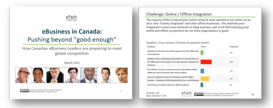 2013 Canadian eBusiness/ eCommerce Survey